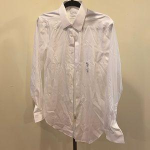 Calvin Klein Men's White Slim Fit Dress Shirt